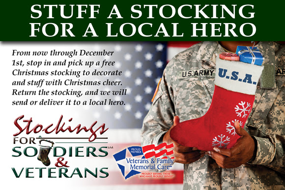 Stockings for Soldiers and VeteransCollection Now until December 1st